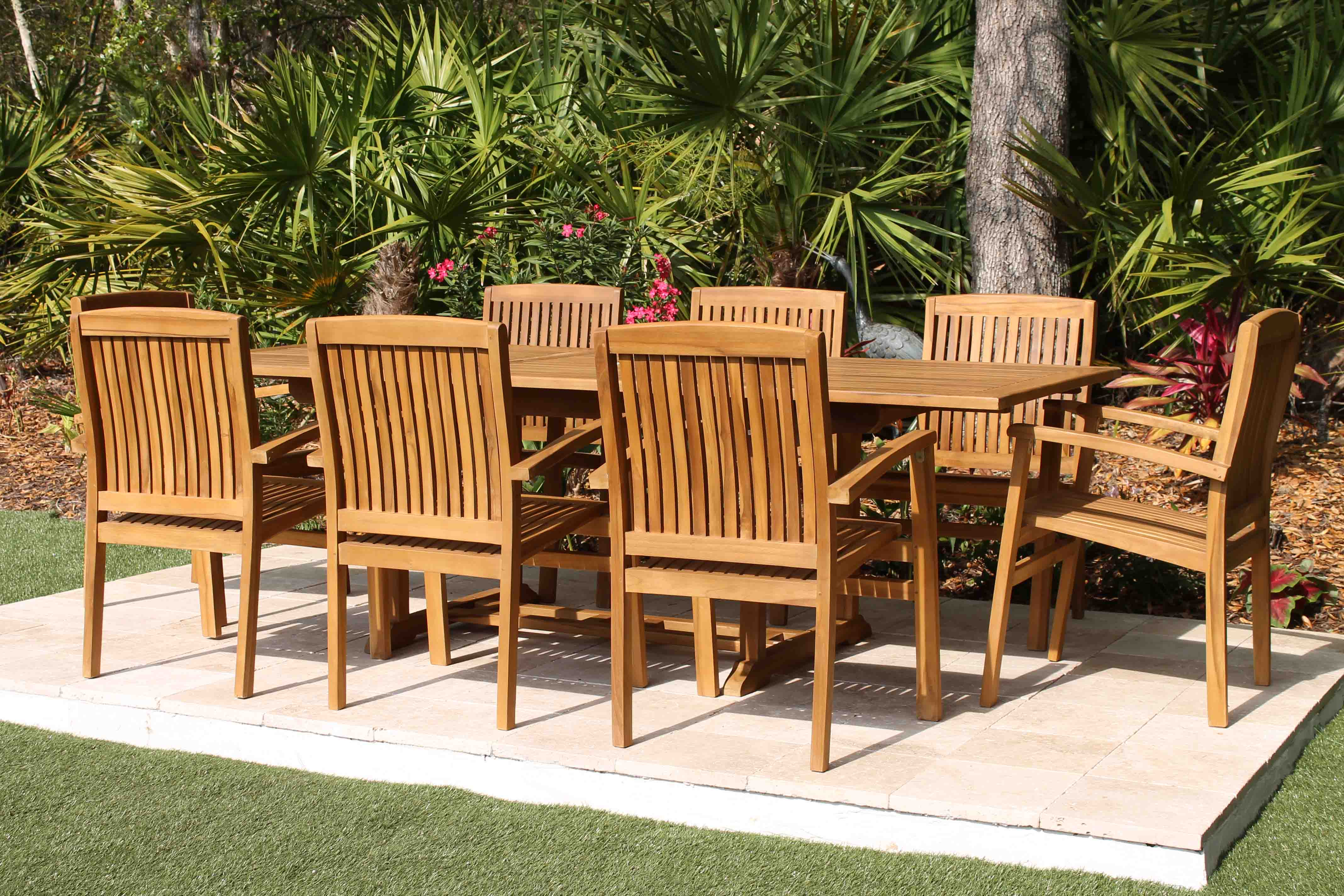 95in Rectangular Table Amp 8 Pacific Chairs Teak Set