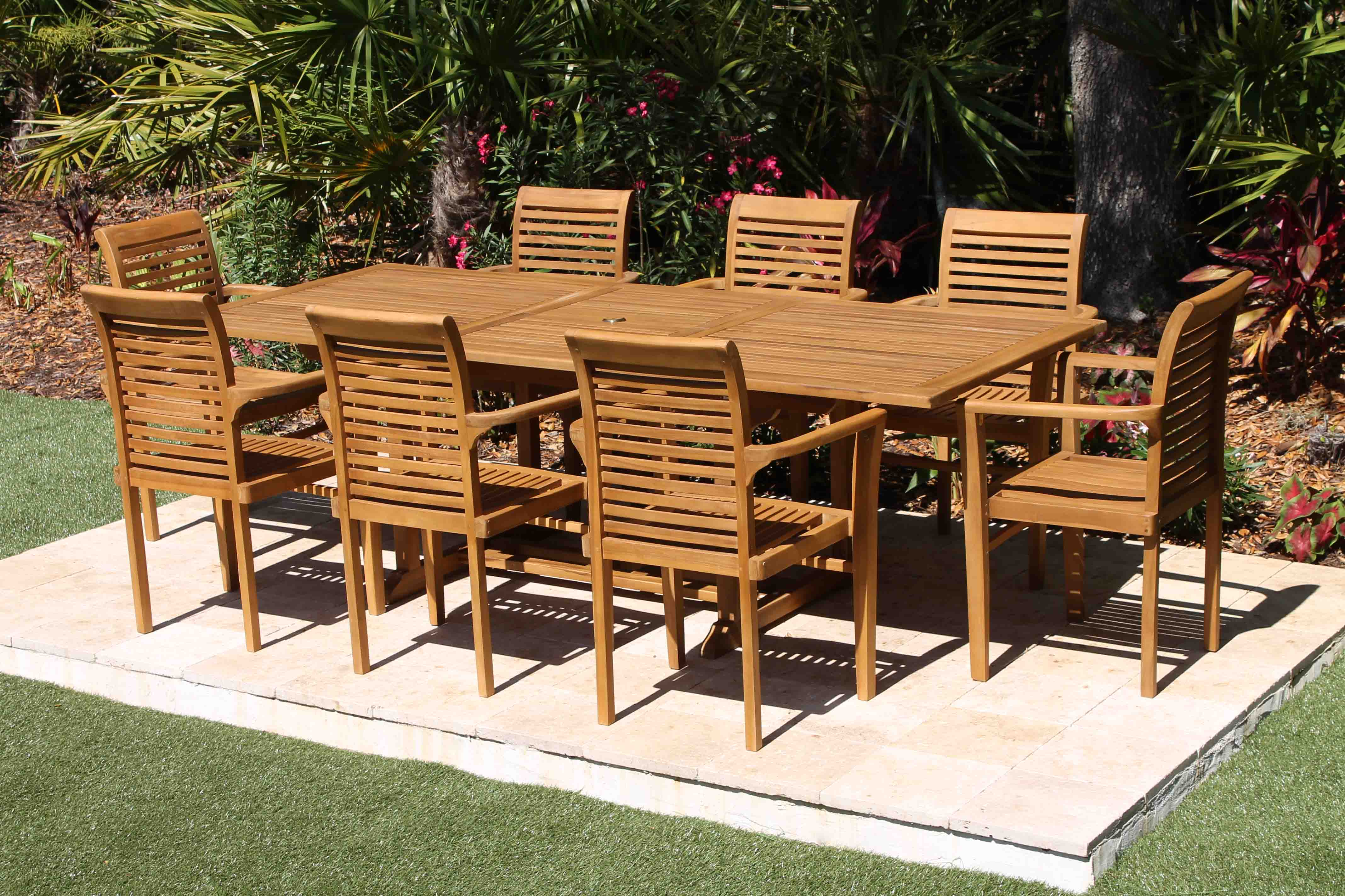 Incroyable 95in Rect Table U0026 Atlantic Chairs Set 3