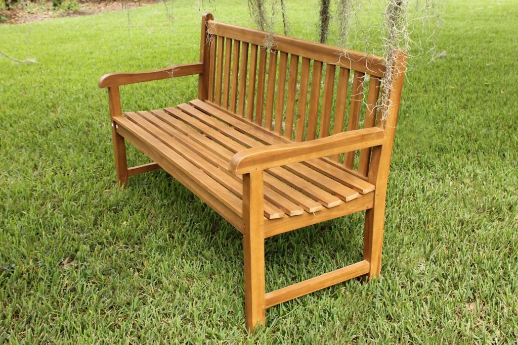 java bench 60in 1 - Teak Bench