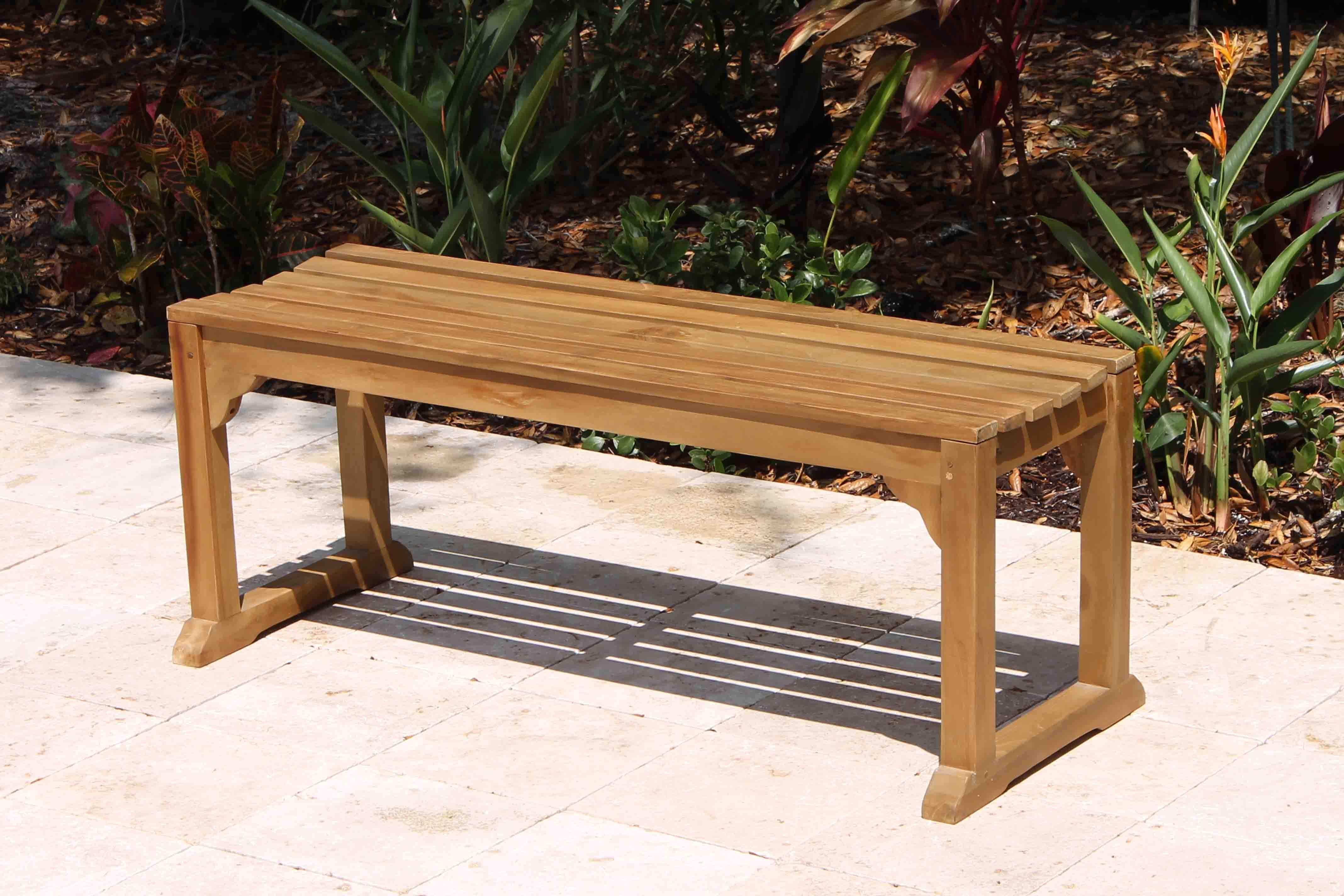 Sale Java 48in Backless Teak Bench Oceanic Teak Furniture