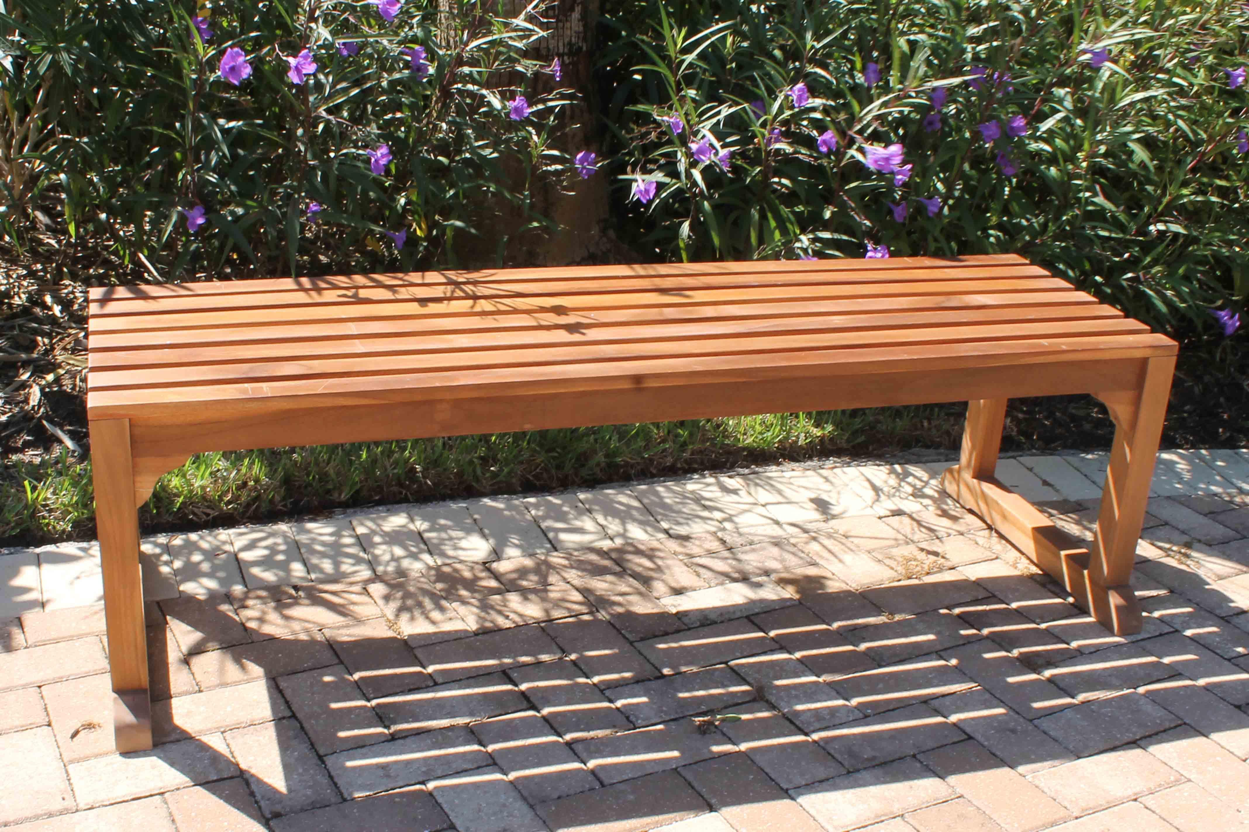 java backless bench - Teak Bench
