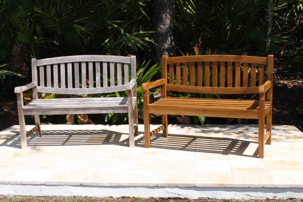 maintenance of your teak furniture  java oval bench 48in stained silver. Product Care   Oceanic Teak Furniture