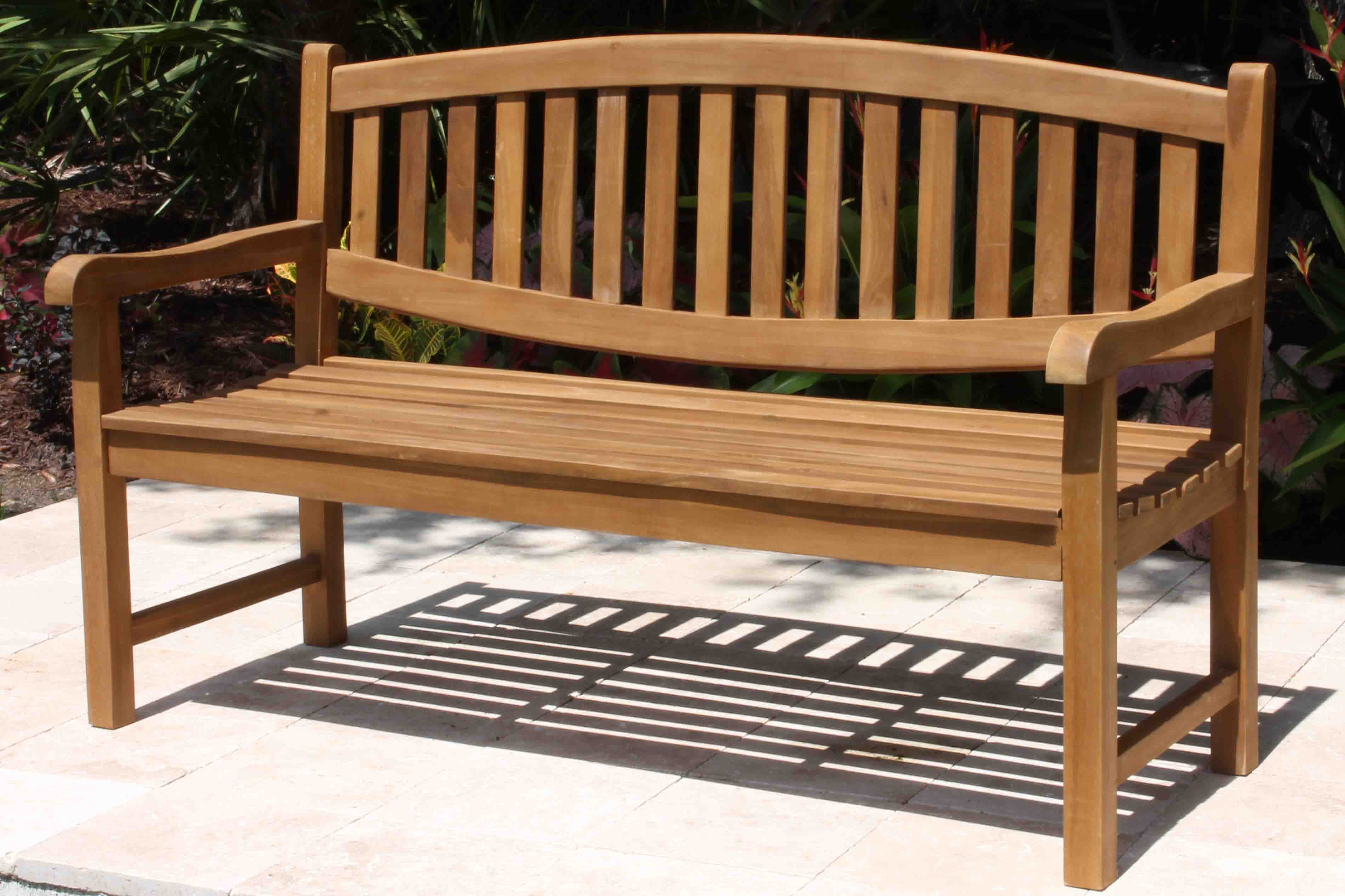 Sale Java 60in Oval Teak Bench Oceanic Teak Furniture