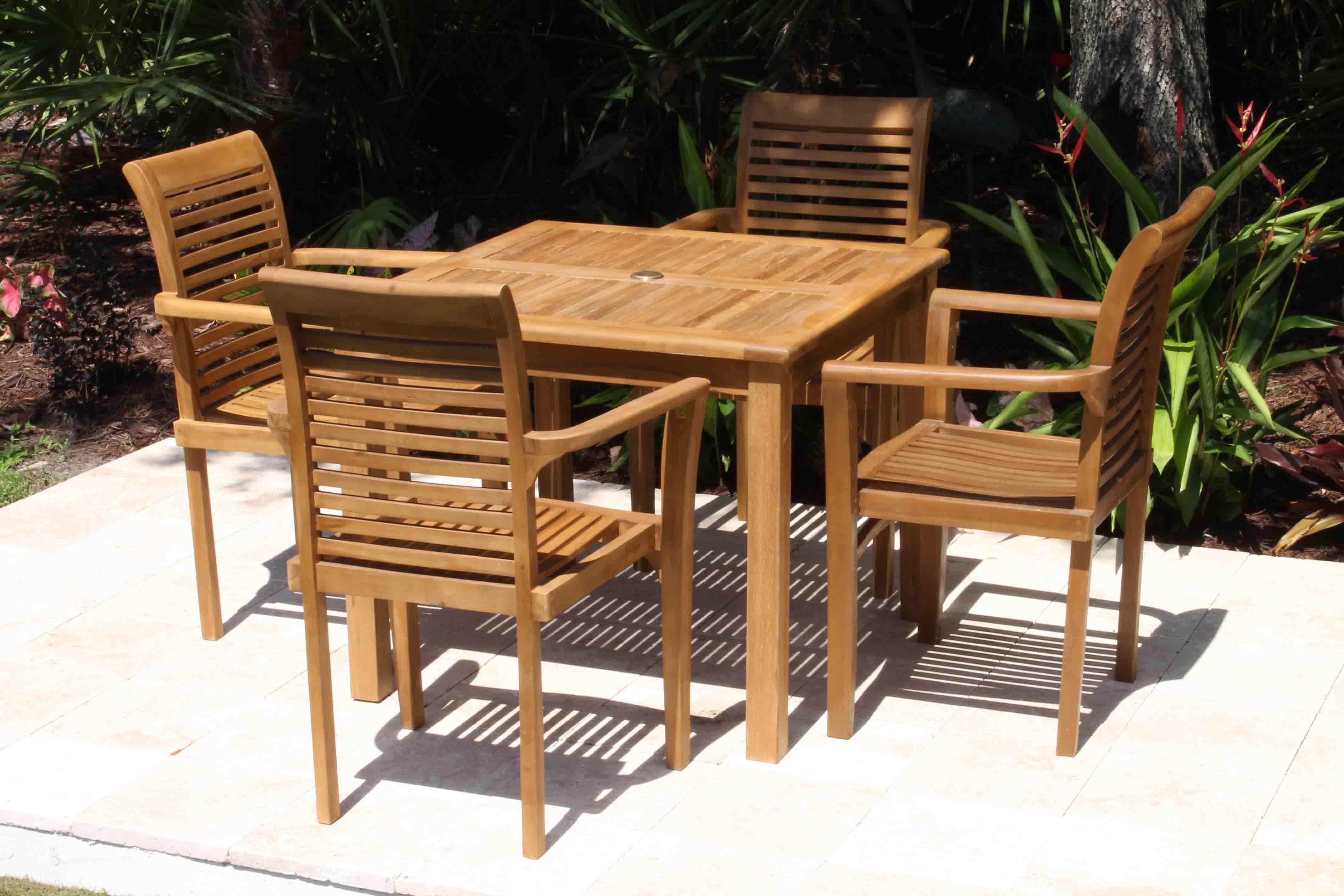 36in Square Table U0026 Atlantic Armchair Set 3