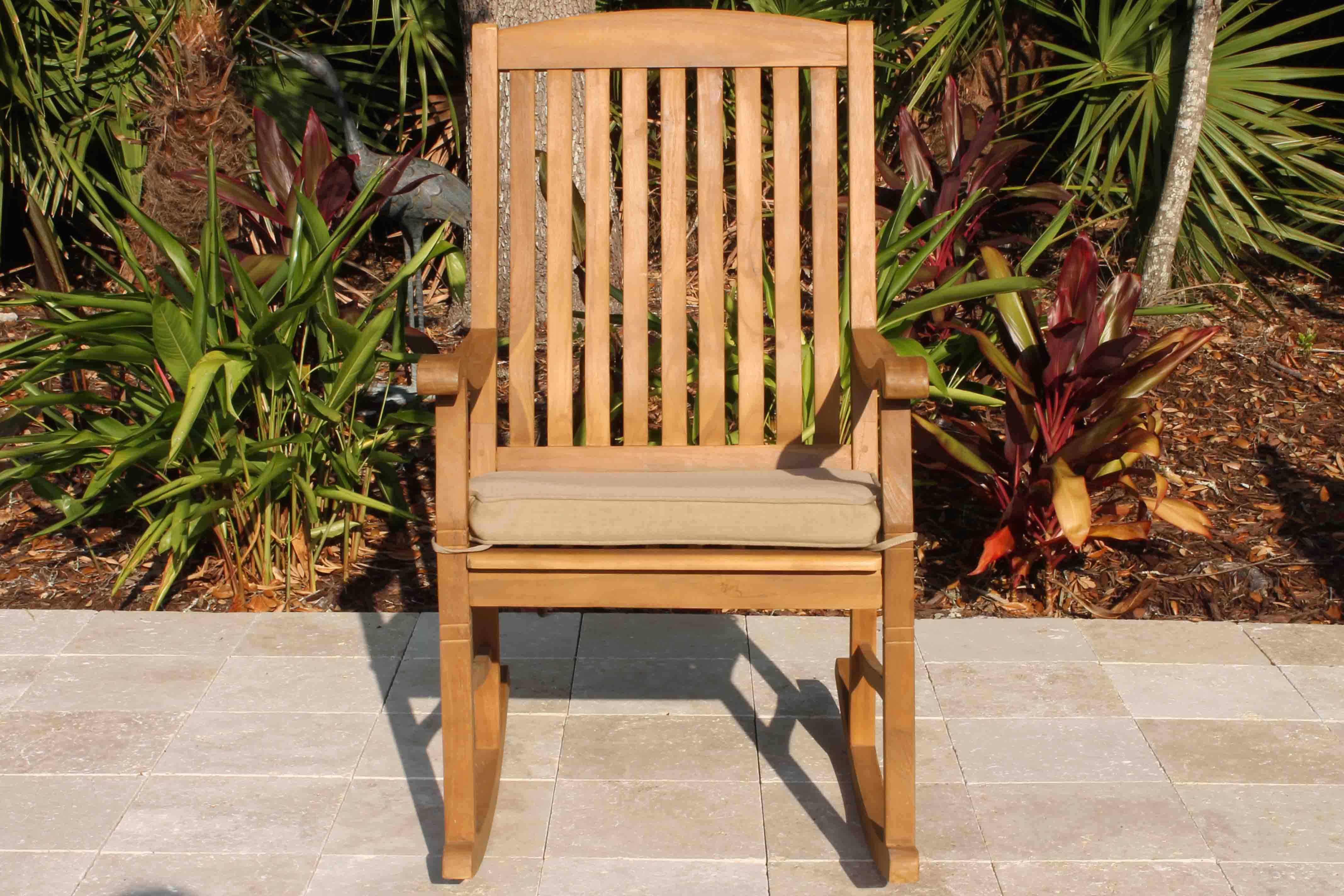 SALE Teak Rocking Chair