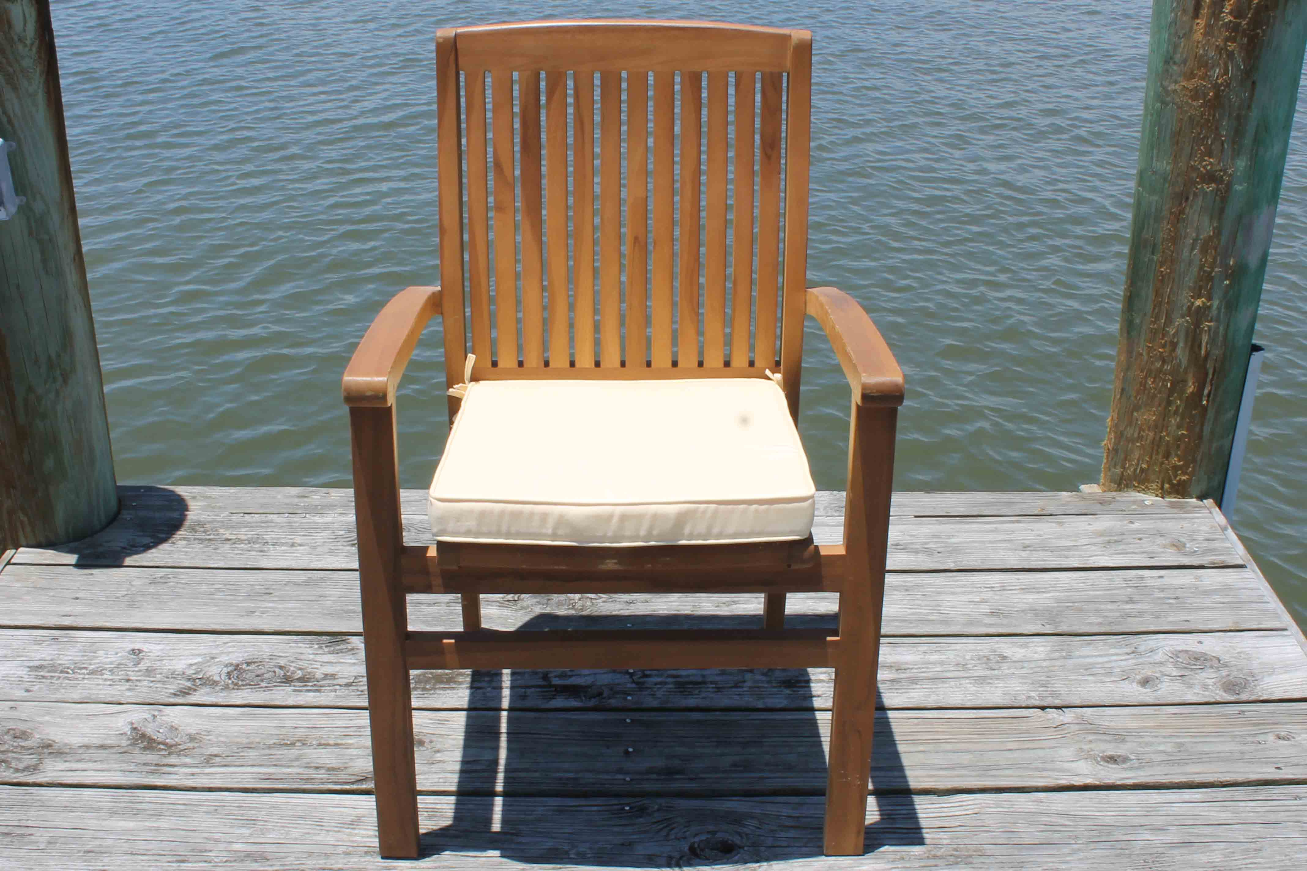 SALE Pacific Chair Cushion Pad Oceanic Teak Furniture