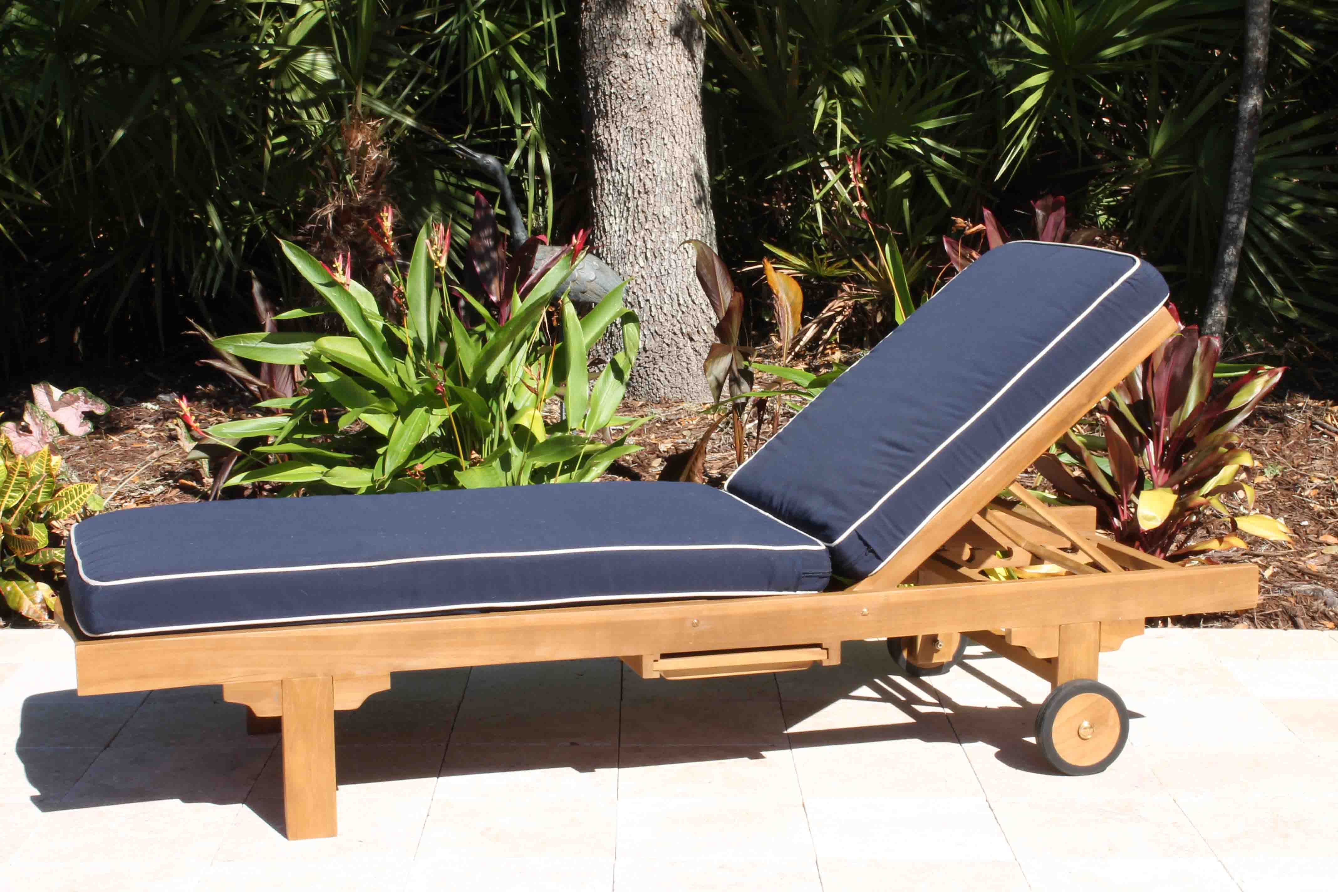 SALE Teak Classic Chaise Lounger
