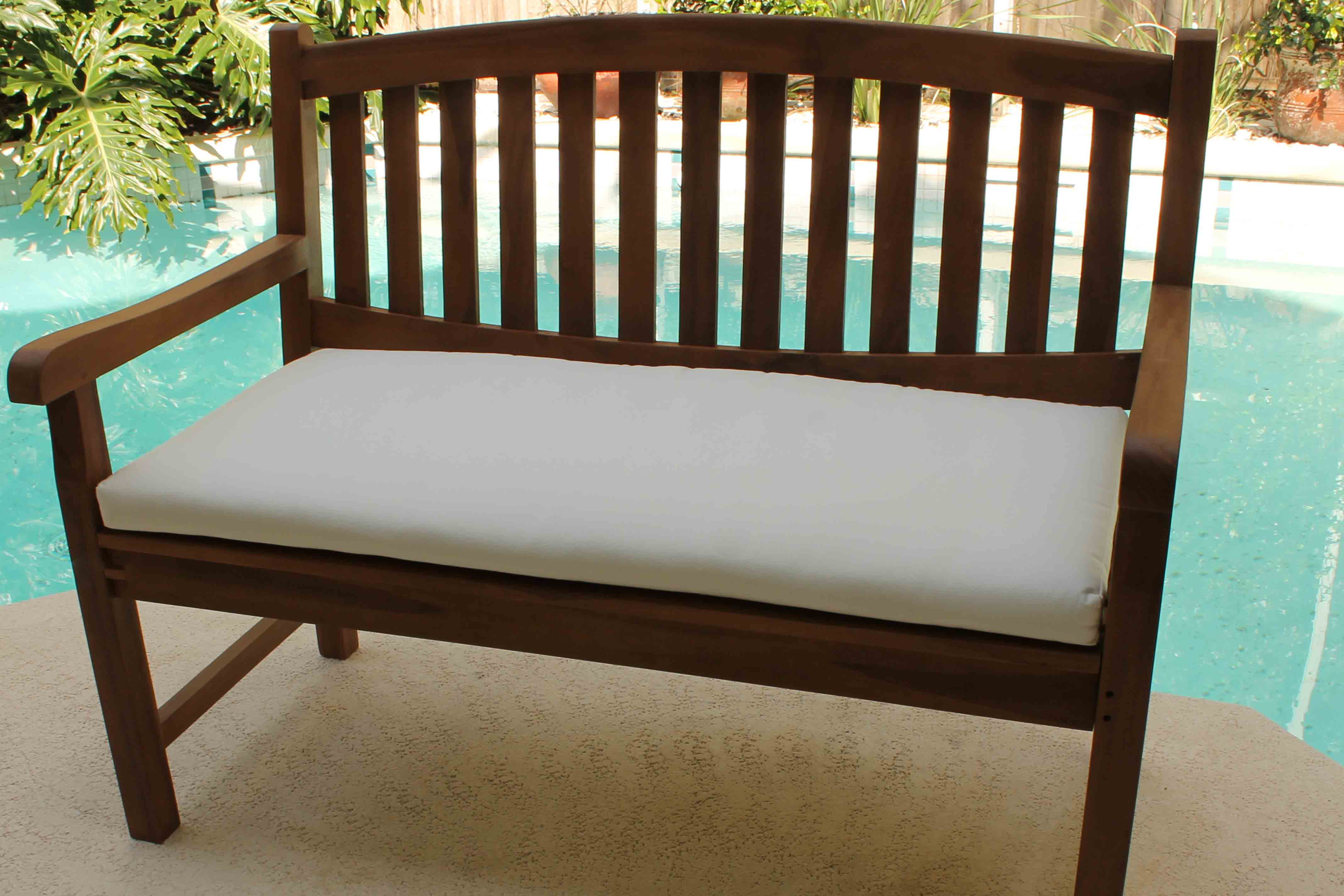 Sale Sunbrella 48in Bench Cushion Oceanic Teak Furniture