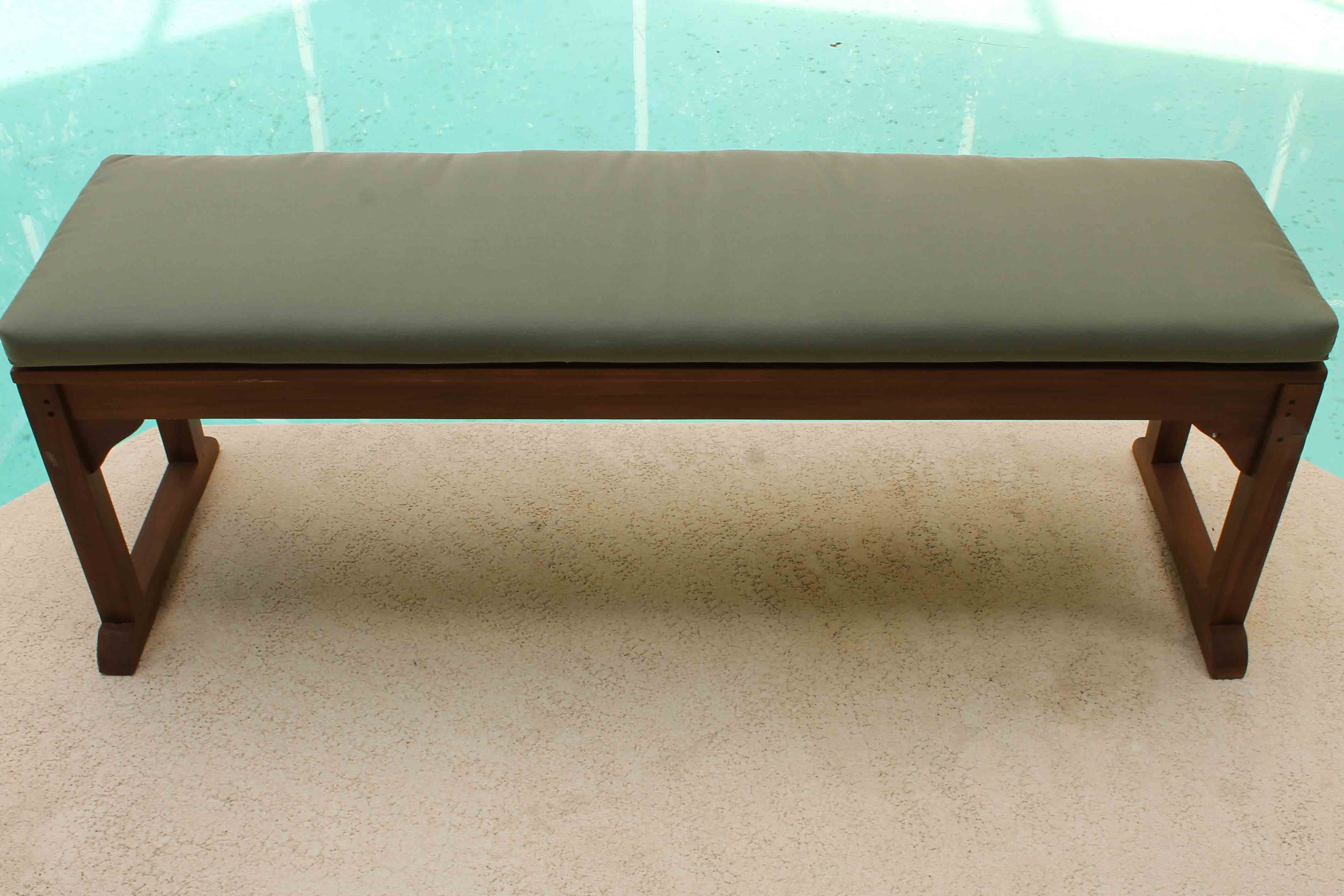 Sale Sunbrella 60in Backless Bench Cushion Oceanic Teak