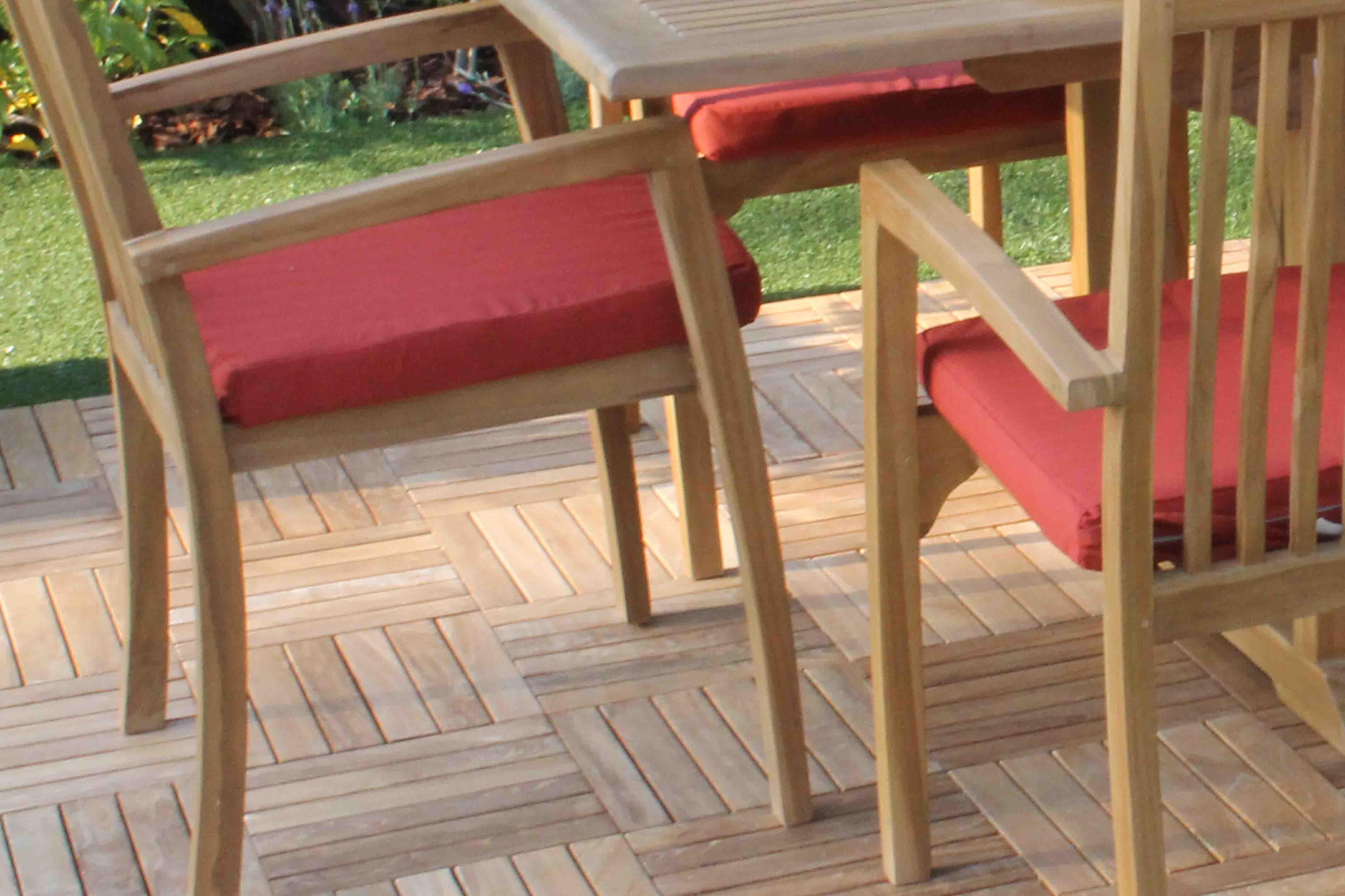sale sunbrella fabric hampton chair cushion pad oceanic teak