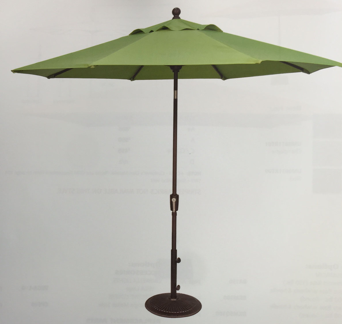 Sale 9ft Octagonal Umbrella Sunbrella Fabric Oceanic