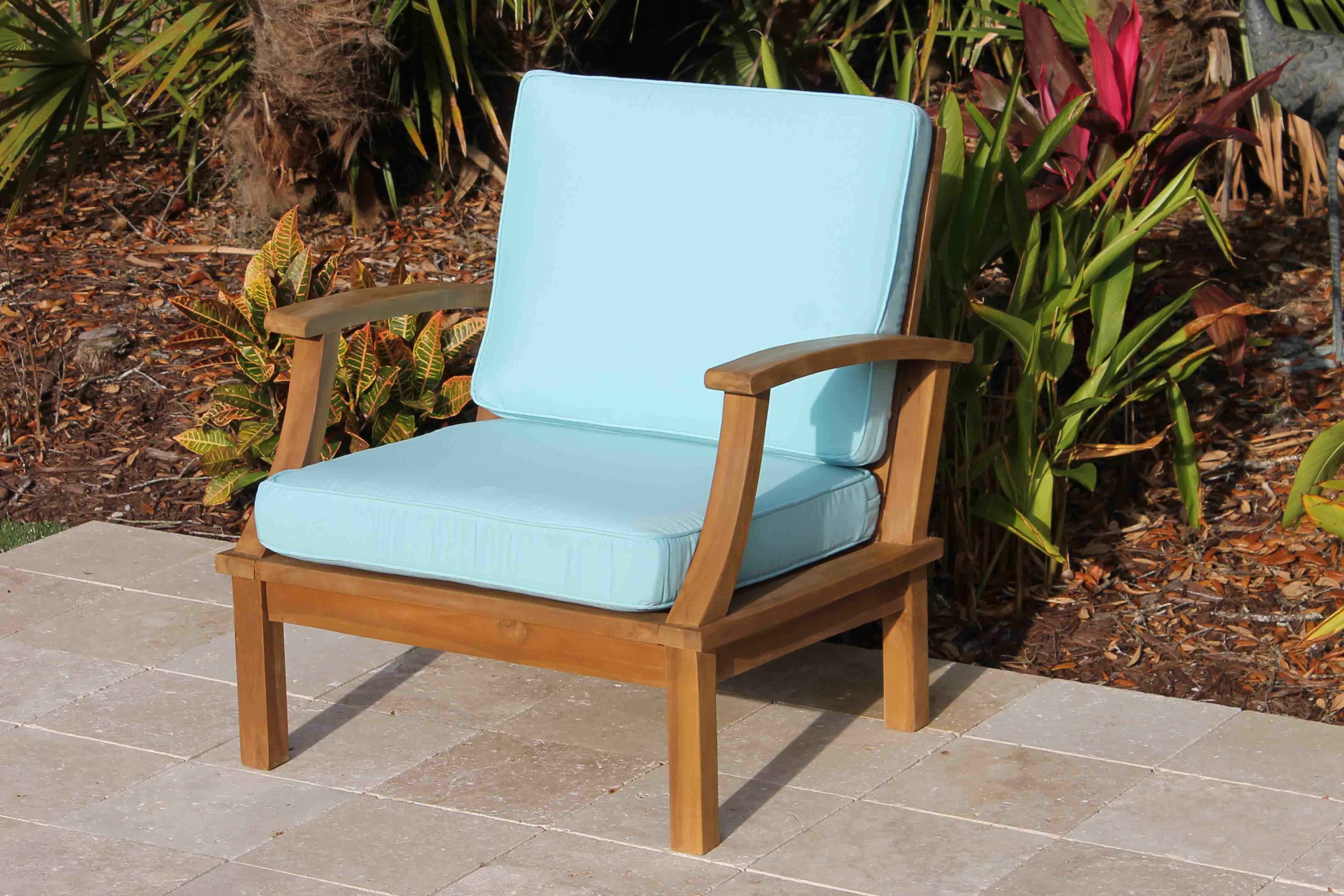 Deep Seat Teak Armchair Including Full Cushions