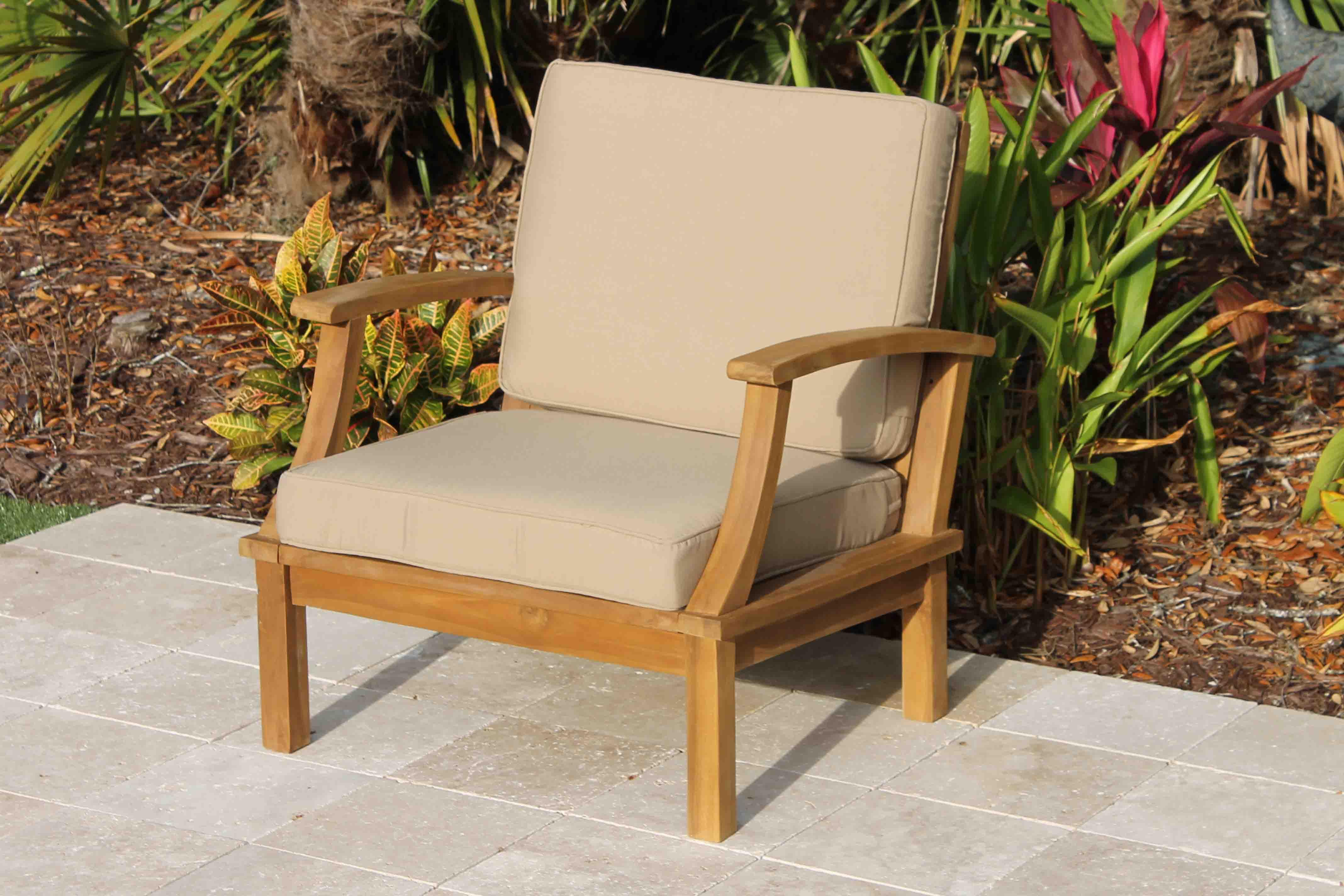 Deep Seat Armchair   Sandstone Cushions 1