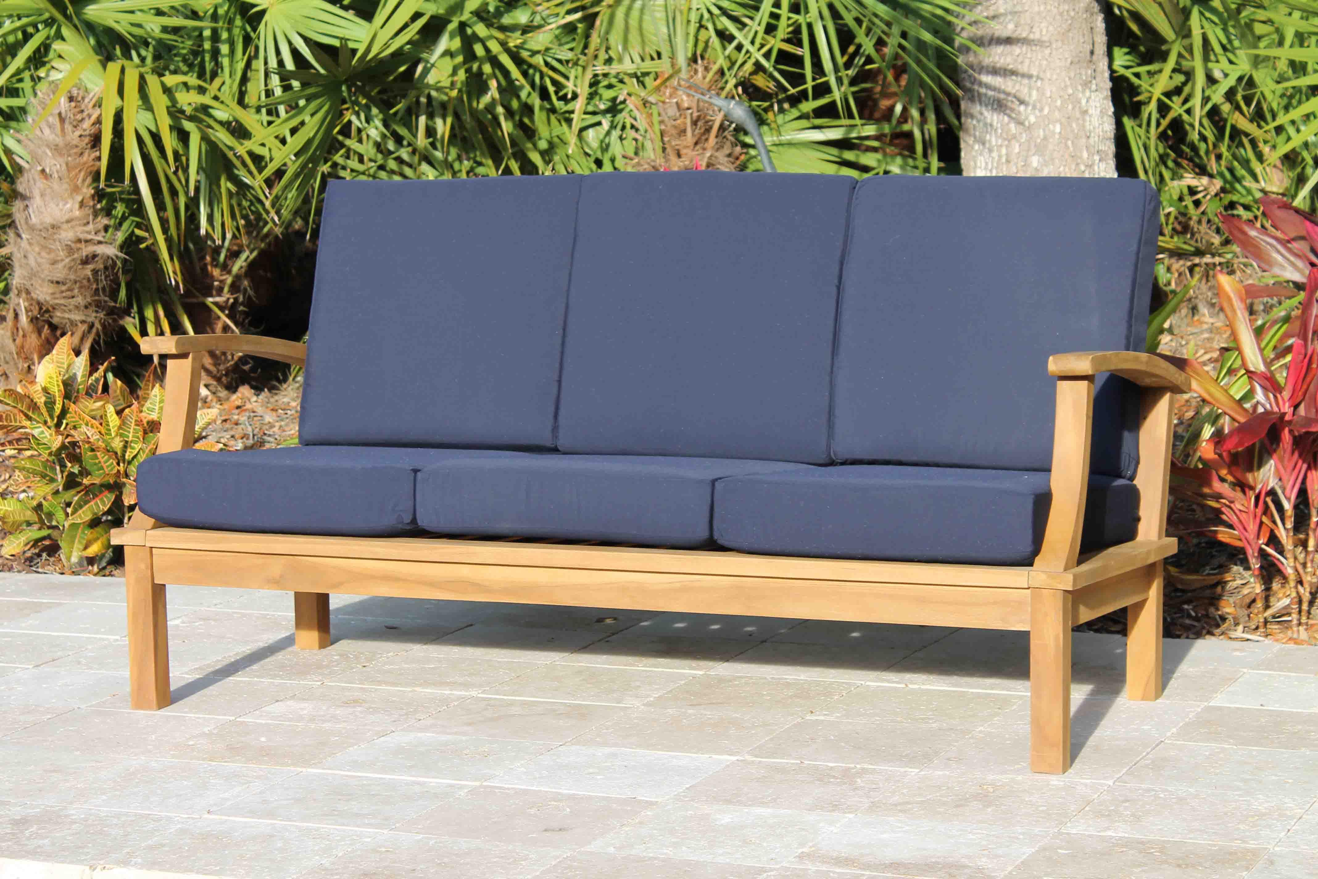 Deep Seat Sofa Navy Blue (2)