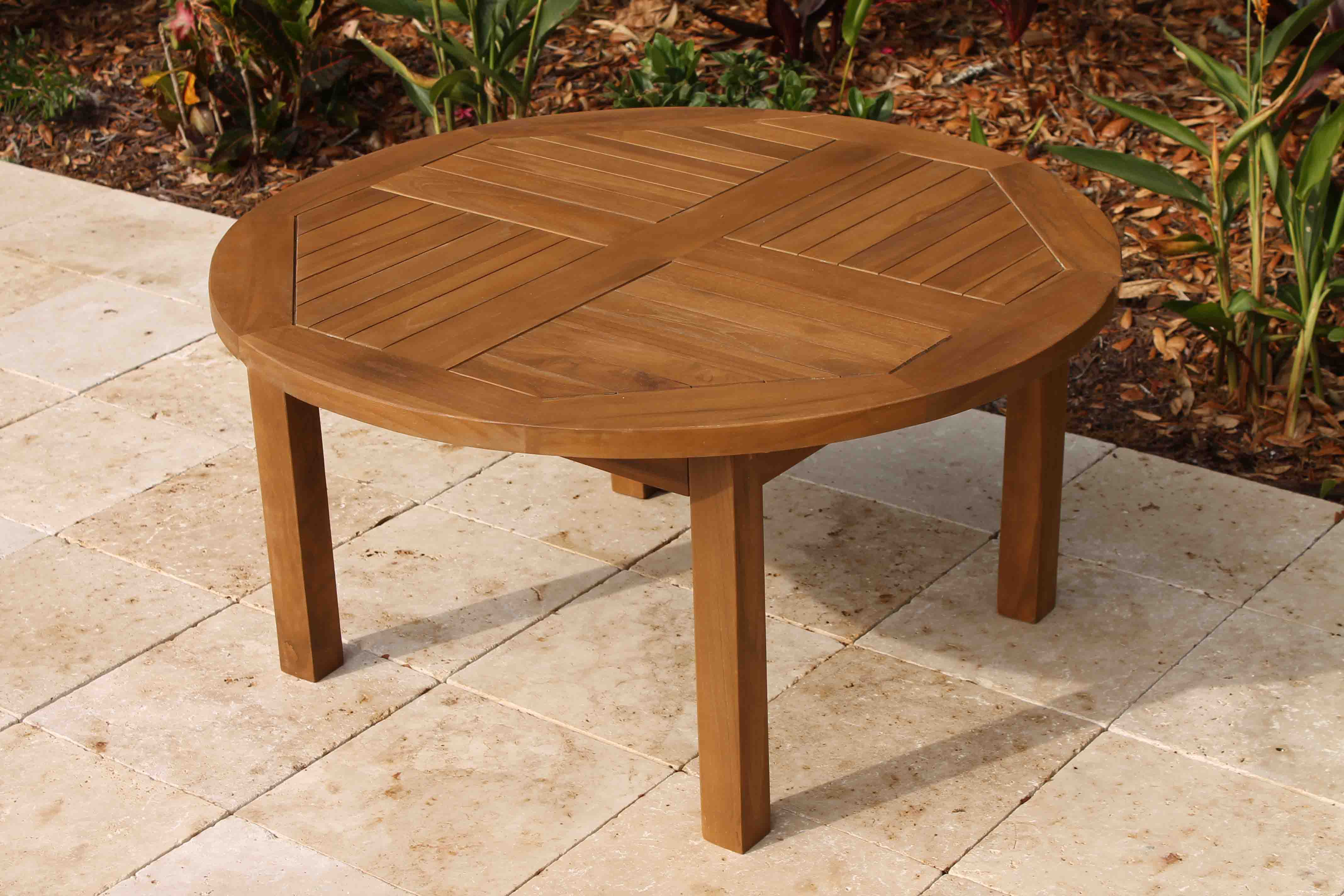 Sale teak round side table 36in oceanic teak furniture 36in round coffee table 1 geotapseo Choice Image