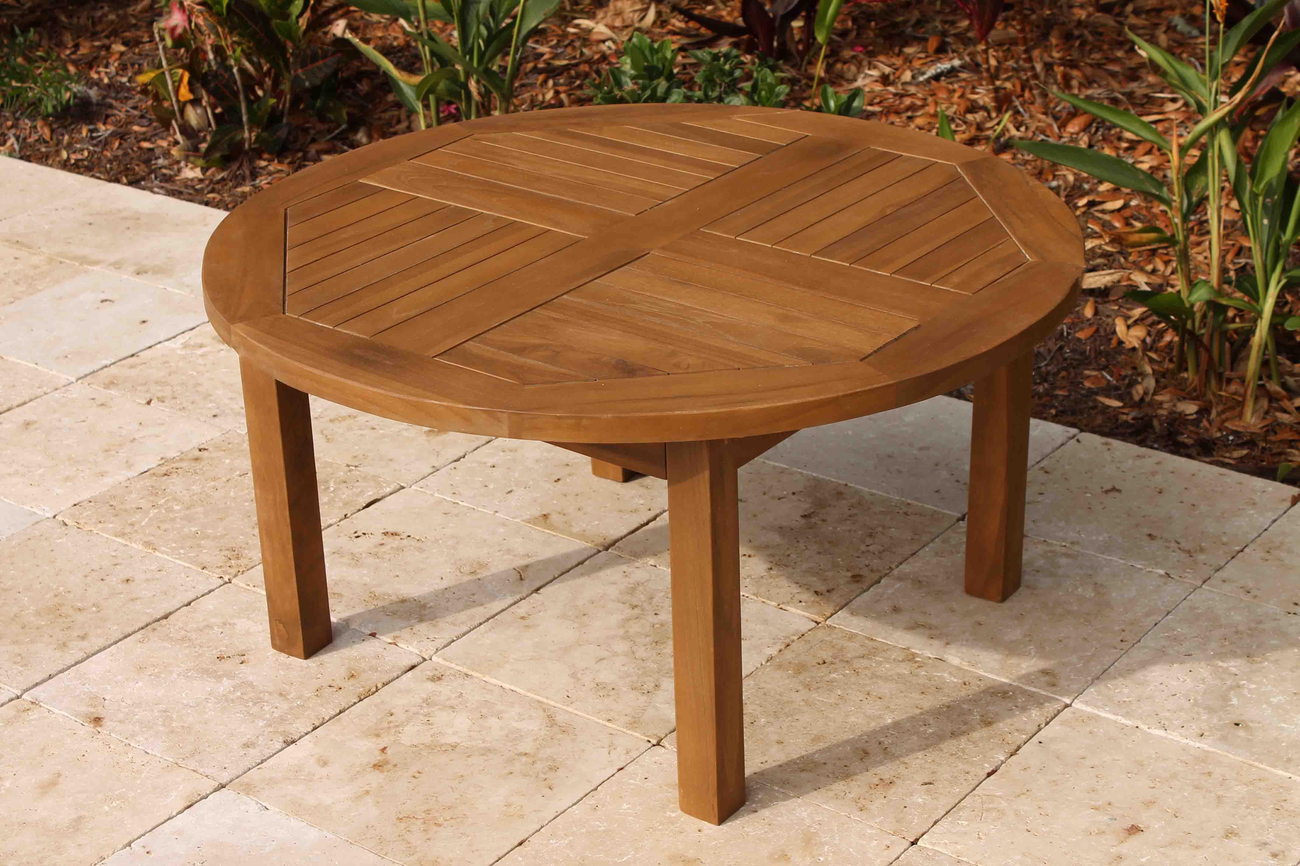 Sale Teak Round Side Table 36in Oceanic Teak Furniture