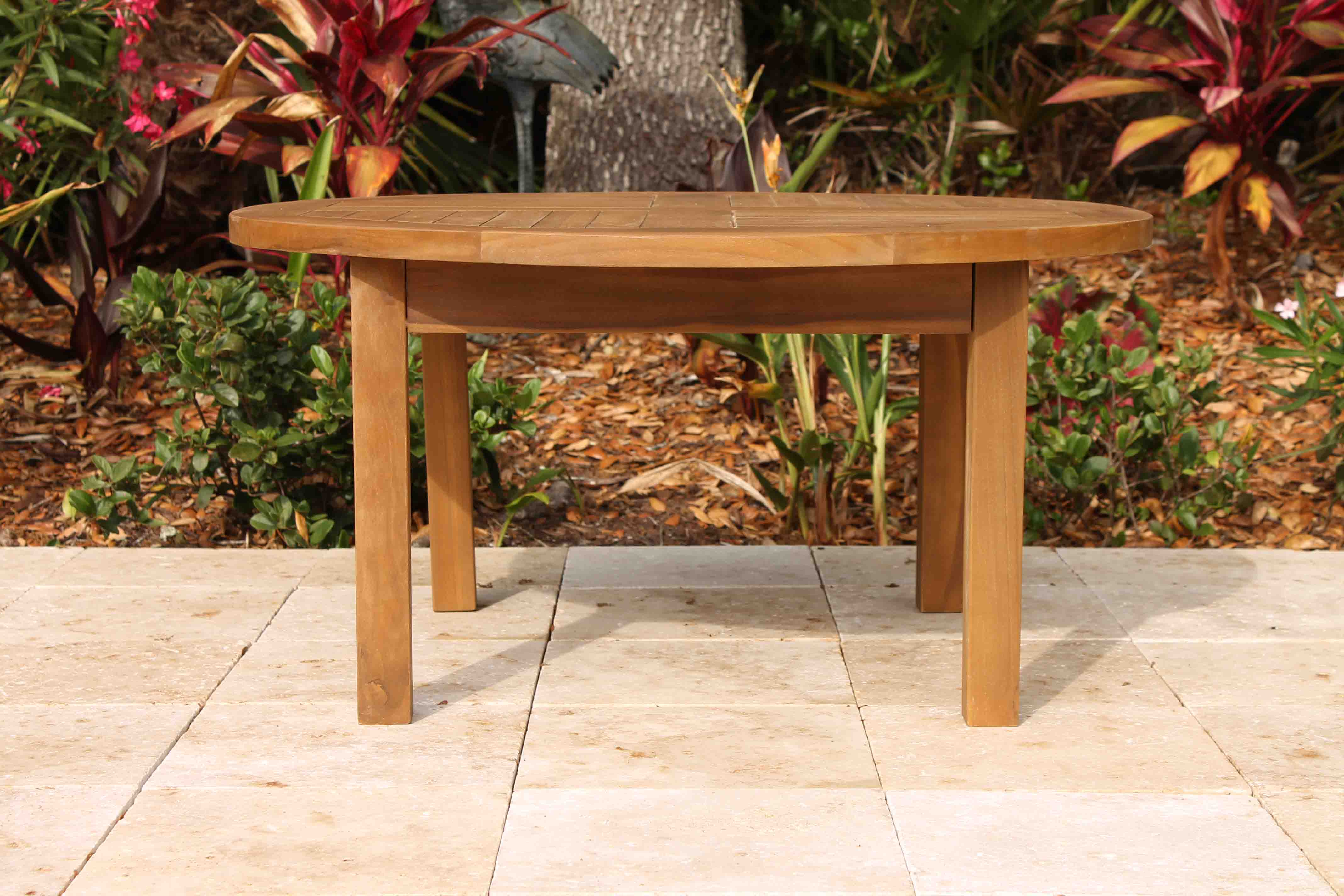 Sale teak round side table 36in oceanic teak furniture 36in round coffee table 3 geotapseo Choice Image