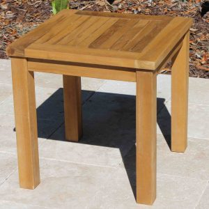 SALE Teak Side Table 18in