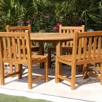 SALE 56in Round Table & 6 Java Chairs Teak Set