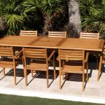 SALE 95in Rectangular Table & 8 Arizona Chairs Teak Set