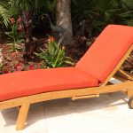 SALE Teak Curve Chaise Lounger