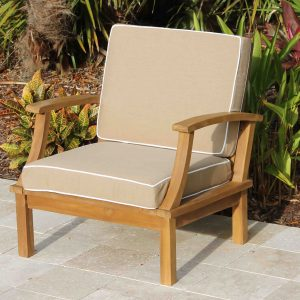 Deep Seat Teak - Armchair Including Full Sunbrella Cushions