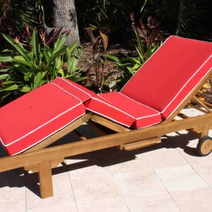 SALE Sunbrella Fabric Deluxe Chaise Lounge Cushion