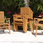 SALE 48in Round Table & 4 Pacific Chair Teak Set