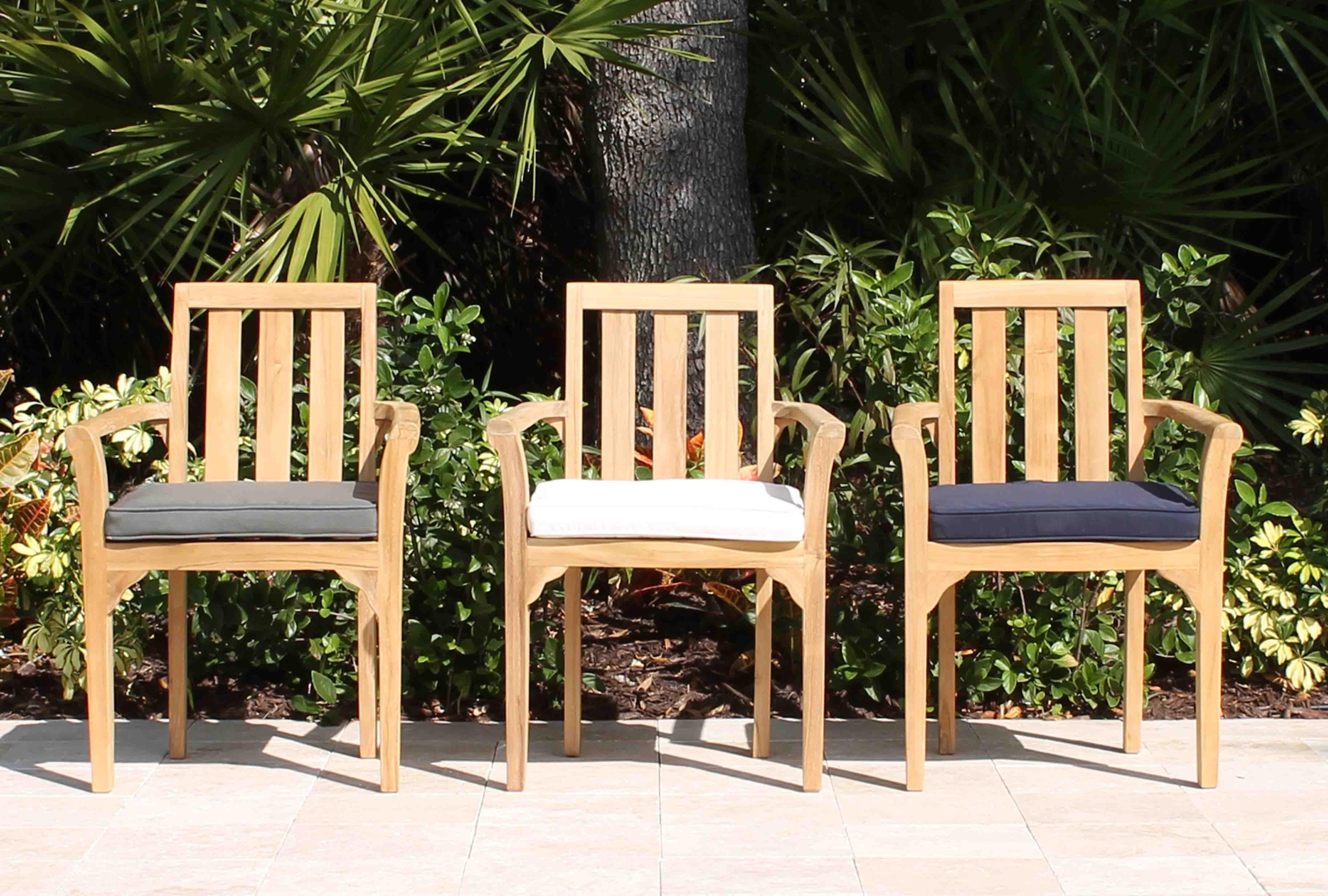 Bay Chair Cushion Pad Oceanic Teak Furniture