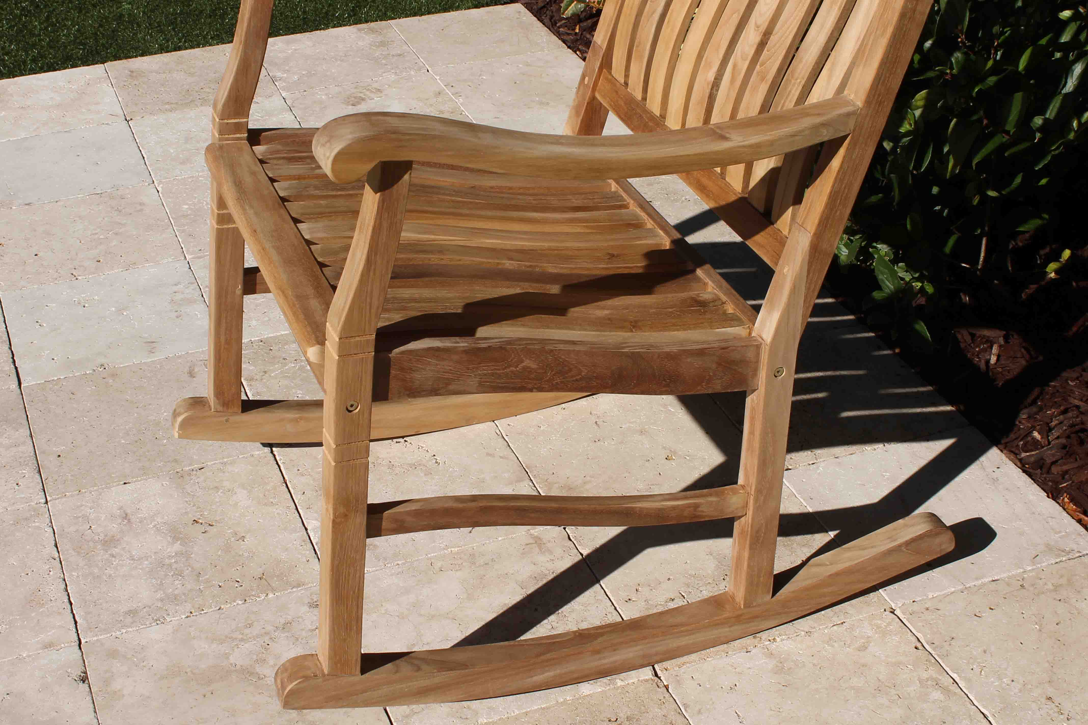 Magnificent Set Of 2 Teak Rocking Chairs Gmtry Best Dining Table And Chair Ideas Images Gmtryco