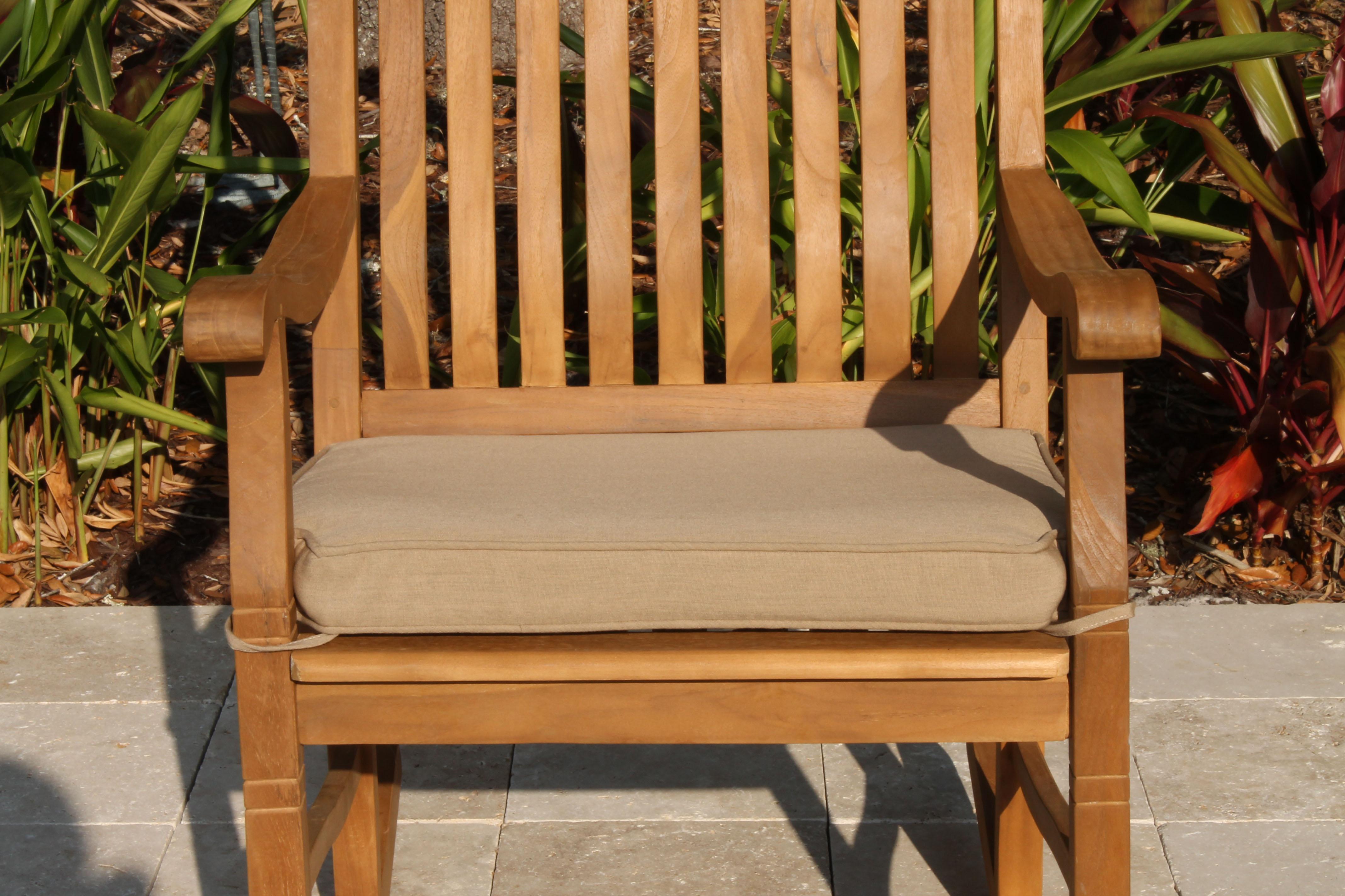 Sunbrella Fabric Rocking Chair Cushion Pad Oceanic Teak