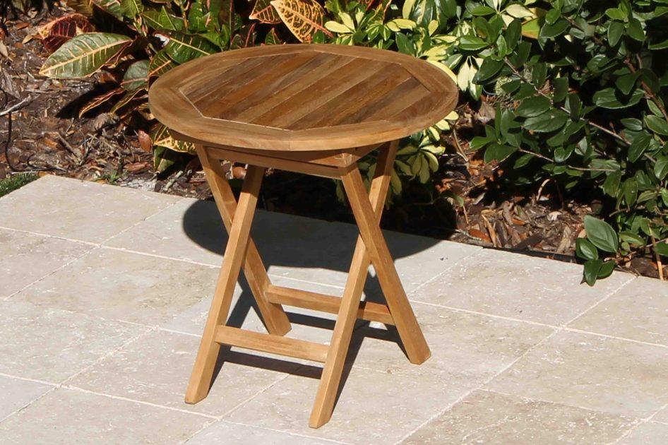 Teak Round Side Table 20in Oceanic Teak Furniture