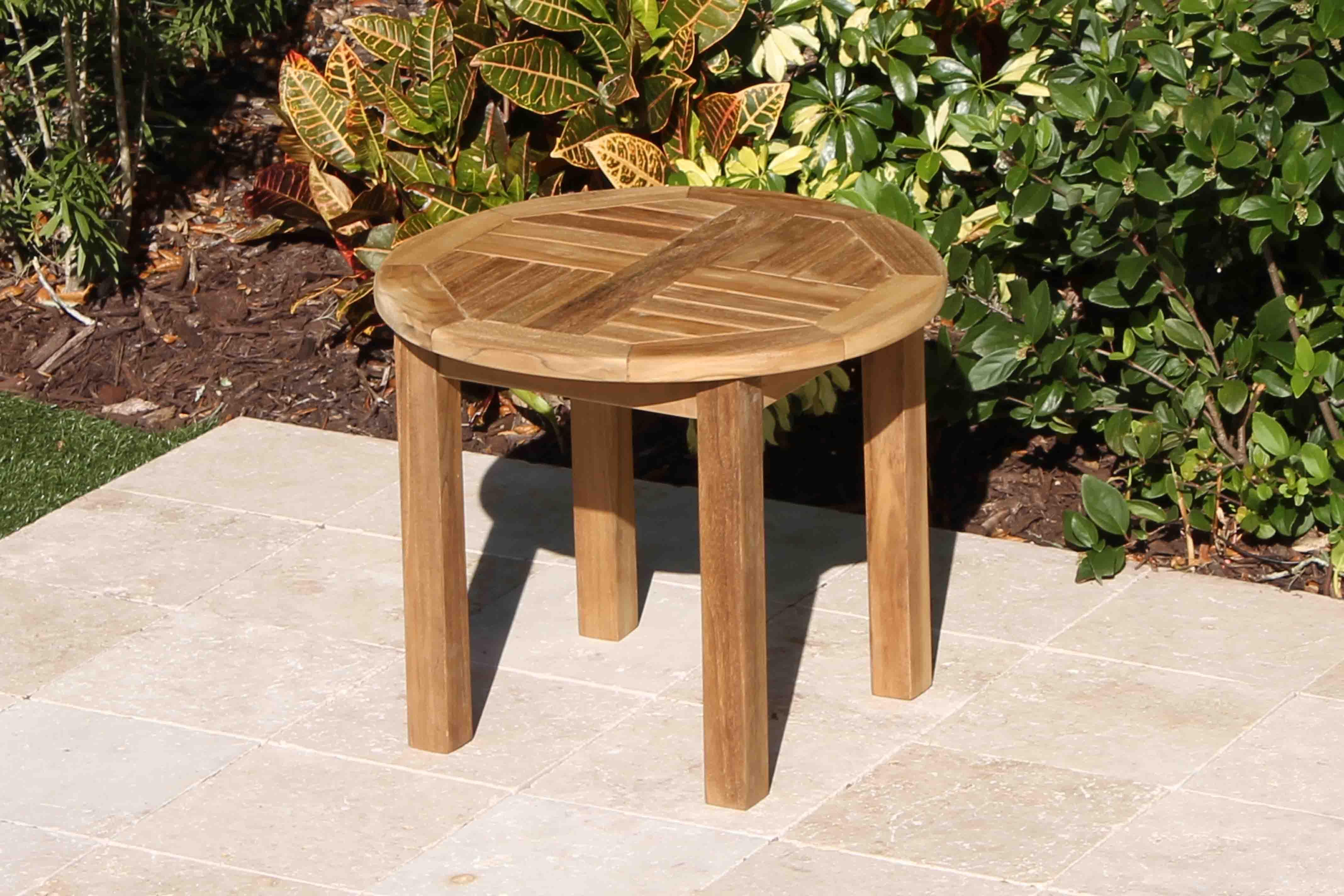 Teak 24in Round Coffee Table Oceanic Teak Furniture