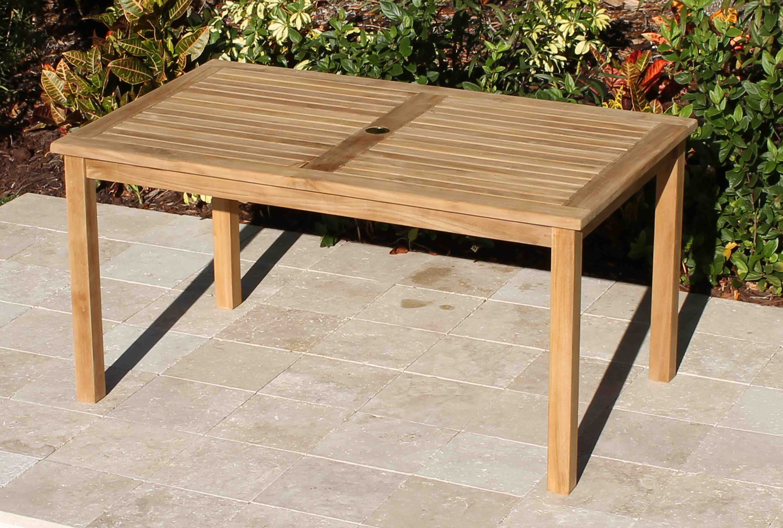 60in Rectangular Table Amp Java Bench Teak Set Oceanic