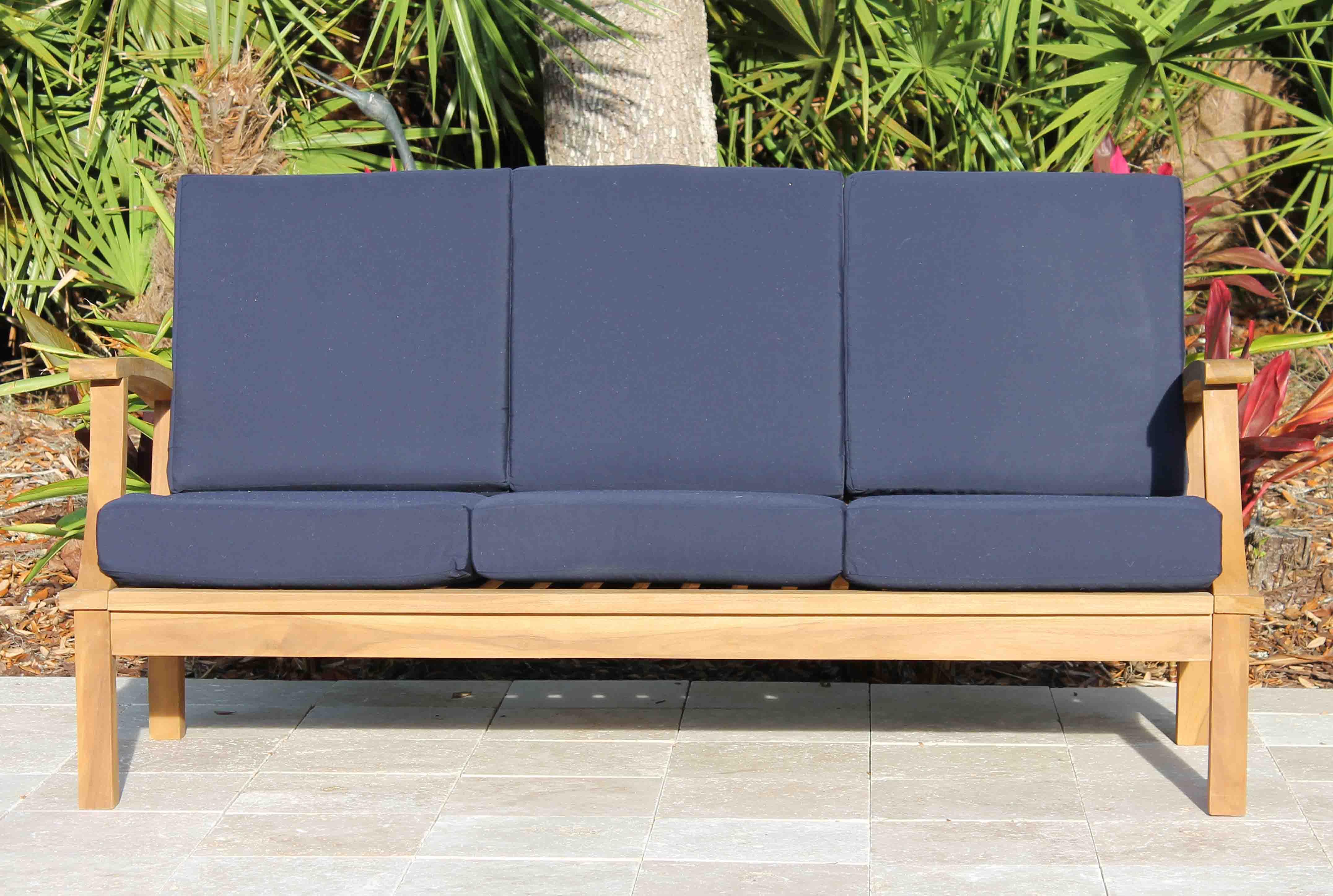 Deep Seat Teak Sofa Including Full Cushions
