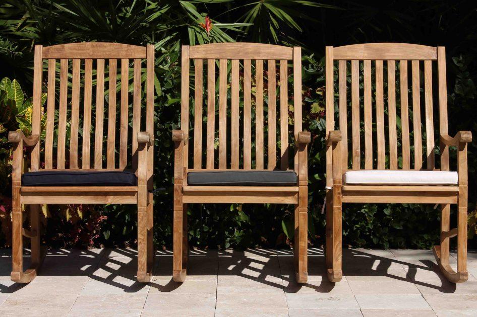 Rocking Chair Cushion Pad Oceanic, Outdoor Furniture Rocking Chair Cushions